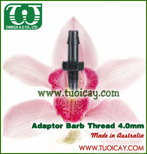phu kien he thong tuoi cay tu dong adaptor barb thread 4mm